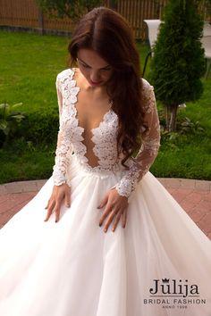 Exclusive luxury wedding dress 2016.Lace by JulijaWeddingShop