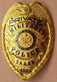 Private Military Police SAAAB Military Insignia, Military Police, Armadura Ninja, Fire Badge, Law Enforcement Badges, Police Badges, Police Patches, Clone Trooper, Fire Dept