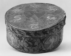 Box    Date:      15th century  Culture:      Italian (Liguria) (?)  Medium:      Wood, canvas, paint  Dimensions:      5 x 11-1/4 in. (12.7 x 28.6 cm)  Classification:      Woodwork  Credit Line:      Rogers Fund, 1916  Accession Number:      16.154.13