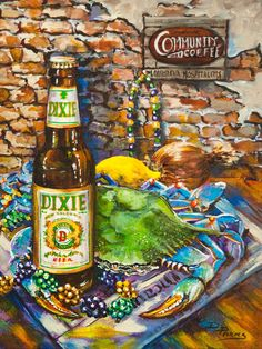 Southern Airways flies to New Orleans.  Check out this art Dixie Love by Dianne Parks