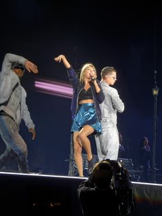 Taylor performing Welcome to New York during the 1989 World Tour in Seattle 8.8.15