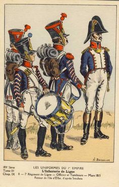 French; 7th Line Infantry, Drummers & Officer 1815