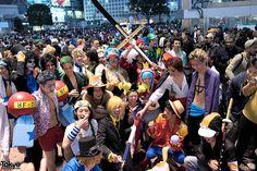People EVERYWHERE ... Halloween 2014, Shibuya, Tokyo. tons more photos here: https://www.flickr.com/photos/tokyofashion/sets/72157648605936290/    31 October 2014   #couples #Fashion #Harajuku (原宿) #Shibuya (渋谷) #Tokyo (東京) #Japan (日本)