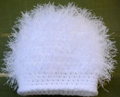 Imagine your newborn in this delicious white fluffy hat!   $12.99-$23.99  Order here today!  https://www.etsy.com/listing/249157507/baby-girl-hat-newborn-crochet-fluffy?ref=shop_home_active_1