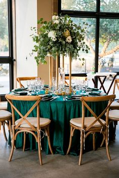 Green wedding decorations - Styled Elegant Emerald Glam Wedding in Temecula – Green wedding decorations Green Wedding Decorations, Green Centerpieces, Wedding Themes, Wedding Colors, Wedding Styles, Wedding Flowers, Wedding Shoot, Wedding Ideas, Rustic Wedding