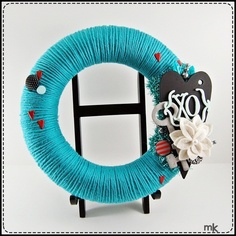 teal valentine wreath!  so cute