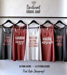 Pour the Wine His Last Name Is Mine Tank Winery Bachelorette Hakuna Moscato Bachelorette Party Shirts Bachelorette Tank Wine Tasting - Bridesmaid Shirt Funny - Ideas of Bridesmaid Shirt Funny - Bachelorette Party Themes, Bachelorette Party Shirts, Bachelorette Weekend, Bachelorette Sayings, Bachelorette Nashville, Bridal Party Shirts, Bridesmaids And Groomsmen, Funny Bridesmaids, Bridesmaid Tank Tops