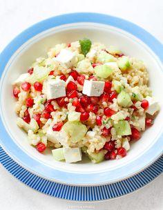Feta, Pasta Salad, Potato Salad, Grilling, Salads, Good Food, Potatoes, Cheese, Ethnic Recipes