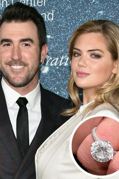 Kate Upton and Justin Verlander - The Most Breathtaking Engagement Rings Ever - Southernliving. The Detroit Tigers pitcher proposed to the model with a jaw-dropping 8 carat diamond ring after three years of dating in 2016.
