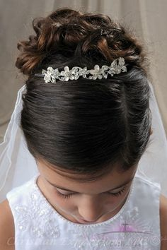 First Communion Tiara Crown Style Trisha