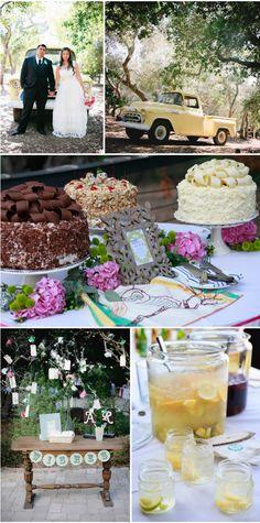 Cute outdoor wedding