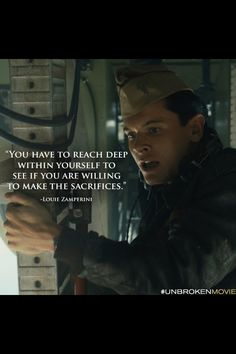 Louis Zamprini, the movie Unbroken. Jack O'connell, Unbroken Quotes, Athlete Quotes, Really Good Movies, Empowering Quotes, Great Quotes, Random Quotes, Awesome Quotes, Film Quotes