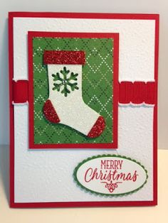 Hang Your Stocking, Christmas Stockings, Christmas Card, Stampin' Up!, Rubber Stamping, Handmade Cards