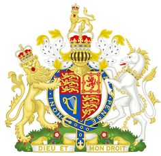 English: Royal Coat of Arms of the United Kingdom of Great Britain and Northern Ireland as used by Queen Elizabeth II from 1953 to the present (as used in all her realms except Scotland). ...much detailed description ... This image shows a flag, a coat of arms, a seal or some other official insignia. The use of such symbols is restricted in many countries. These restrictions are independent of the copyrightstatus. Sodacan Wikimedia commons member