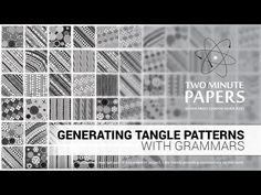 (137) Generating Tangle Patterns With Grammars | Two Minute Papers #102 - YouTube