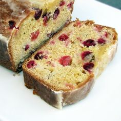 Rumbly In My Tumbly: Glazed Cranberry Orange Bread- Perfect for Thanksgiving, Christmas, or any holiday gathering.