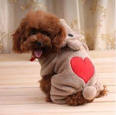 Padrão de urso Adorável Cães Jumpsuit Teddy Dog Pet Roupas de Lã Quente Casacos de Inverno Com Capuz em Casacos e Jaquetas para Cachorros de Home & Garden no AliExpress.com | Alibaba Group