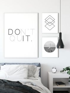 Cute Home Decor Don't Quit Inspirational Quote Wall Art. Scandinavian decor Home Decor Don't Quit Inspirational Quote Wall Art. Bible Verse Wall Art, Wall Art Quotes, Quote Wall, Quote Posters, Quote Prints, Wall Art Prints, Inspirational Posters, Motivational Posters, Minimalist Poster