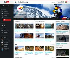 YouTube unofficial redesign 2014 by Adrien Thomas