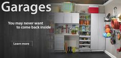 Custom garage storage solutions by Closet Works