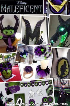 Ideas para una fiesta de #Maléfica #Maleficent party, piñata, regalos, decoración de las mesas, imprimibles, invitaciones, pasteles y más.