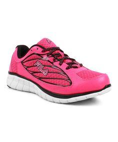 f9cd5300557e FILA Pink   Black Hyper Split 3 Running Shoe