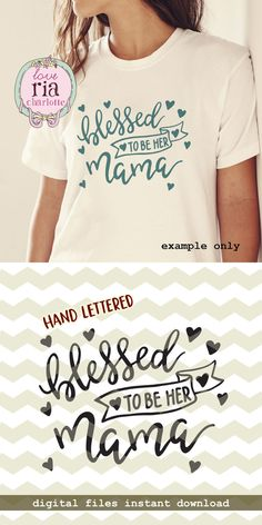 Blessed to be her mama, cute lovely mother daughter mom digital cut files, SVG, DXF, studio3 for cricut, silhouette cameo, diy vinyl decals by LoveRiaCharlotte on Etsy