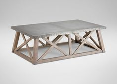 Bruckner Metal-Top  Coffee Table: Also available: Bruckner Console Table (128528Z) and Bruckner End Table  Shop at the Ethan Allen of Orland Park, IL