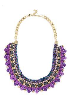 Bead Still My Heart Necklace in Purple