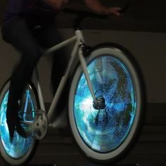 THE BRIGHTEST AND MOST DURABLE. We are the world leader in bike wheel lights. Our LED-based lights are the brightest and most durable on the market and provide 360 degree visibility for commuter. Happy Earth, Bicycle Lights, Bike Wheel, We Are The World, Biker Girl, Earth Day, Bicycles, Fun, Instagram