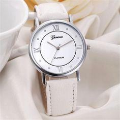 Wrist watch WOMen Fashion Geneva Women Dial Leather Band Analog Quartz Watches Wrist Watches NSSN Ma23