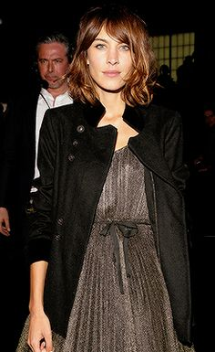 Alexa Chung attends the Marc By Marc Jacobs fashion show during Mercedes-Benz Fashion Week Fall 2015 at Pier 94 on February 17, 2015 in New York City.