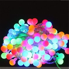 string of 50 balls christmas Multi Color Led lights fairy lights,BBQ lights,home party decoration light Diy Wedding Decorations, Light Decorations, Christmas Decorations, Garland Decoration, Gift Table Wedding, Cool Wedding Cakes, Party Wedding, Wedding Dress, Holiday Lights