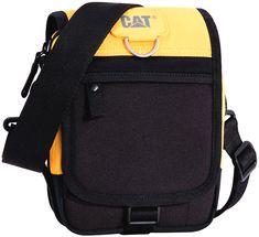 Torba Caterpillar Ronald czarna z żółtymi elementami Caterpillar Equipment, Cool Backpacks, Ronaldo, Nfl, Canvas, Castle, Stuff To Buy, Bags, Backpack Purse