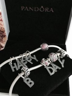 Happy B-day bracelets from PANDORA. #PANDORAbracelet