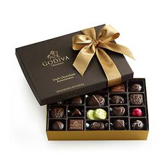Dark Chocolate Assortment Gift Box, Classic Ribbon, 27 pc. DARK CHOCOLATE PREFERABLE