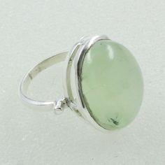 Prehnite Stone Beautiful Design 925 Sterling Silver Ring by JaipurSilverIndia on Etsy