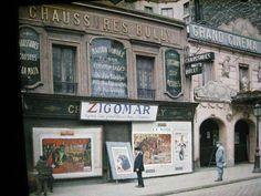 Paris, 1918 - Le Grand Cinéma Plaisir au 95 rue de la Roquette. Autochrome d'Auguste Léon,  © Musée Albert-Kahn