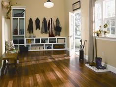 Mohawk's beautiful bamboo flooring adds sophisticated and sustainable style to this space. #Mohawk #flooring