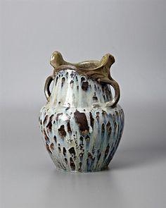 Handled Harmony Vase by Edmond Lachenal and Emile Decoeur, 1901