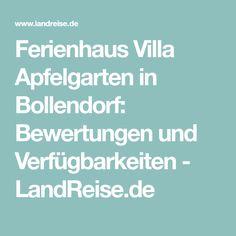 Ferienhaus Villa Apfelgarten in Bollendorf: Bewertungen und Verfügbarkeiten - LandReise.de