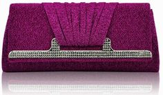 ♥  Diamanté Fuchsia Clutch Bag £20