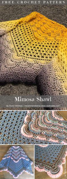 Mimosa Shaw Free Crochet Pattern
