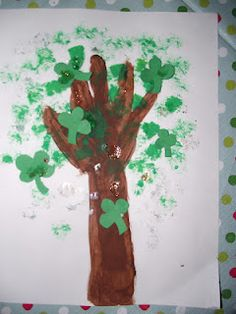 Handprint shamrock tree!