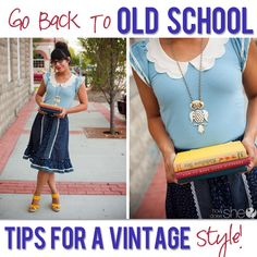 Tips For Dressing in old style vintage! #fashion #vintage #style from howdoesshe.com