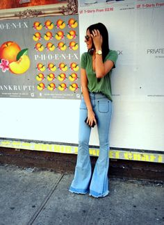 Oh gosh, I love this. Can't wait for bellbottoms to come back, I have a few stashed in my closet!