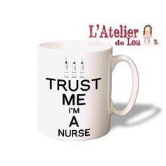 Trust Me I'm A Nurse Coffee Mug - Original Gifts - Spülmachinenfest: Amazon.de: Kitchen & Home