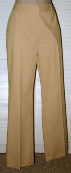 TALBOTS Heritage Fit Polished Cotton Blend Trousers *NWT* British Khaki - Tan 8 #Talbots #HeritageFitTrouser