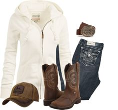 """""""School"""" with a John Deere hoodie though & this is an everyday outfit Country Style Outfits, Country Wear, Country Girl Style, Country Fashion, Country Girl Makeup, Country Life, Country Winter Outfits, Country Girl Dresses, Outfit Winter"""