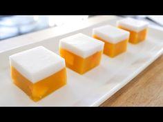 Mango Coconut Jelly (Agar Agar) Recipe วุ้นมะม่วง - Hot Thai Kitchen - YouTube